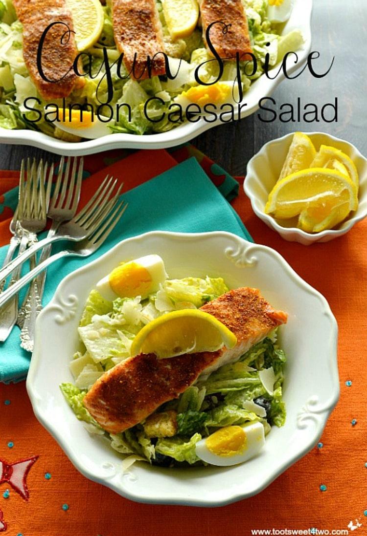 Cajun Spice Salmon Caesar Salad Pic1A