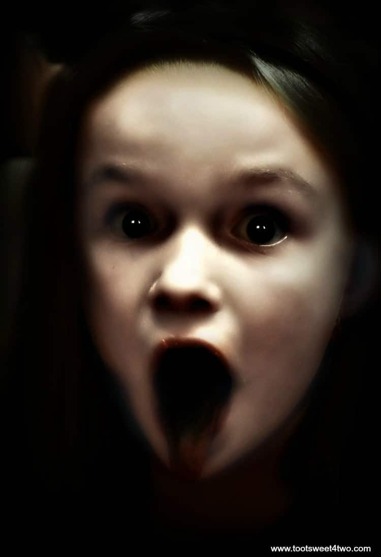 Demon Child Princess Sweetie Pie with black tongue