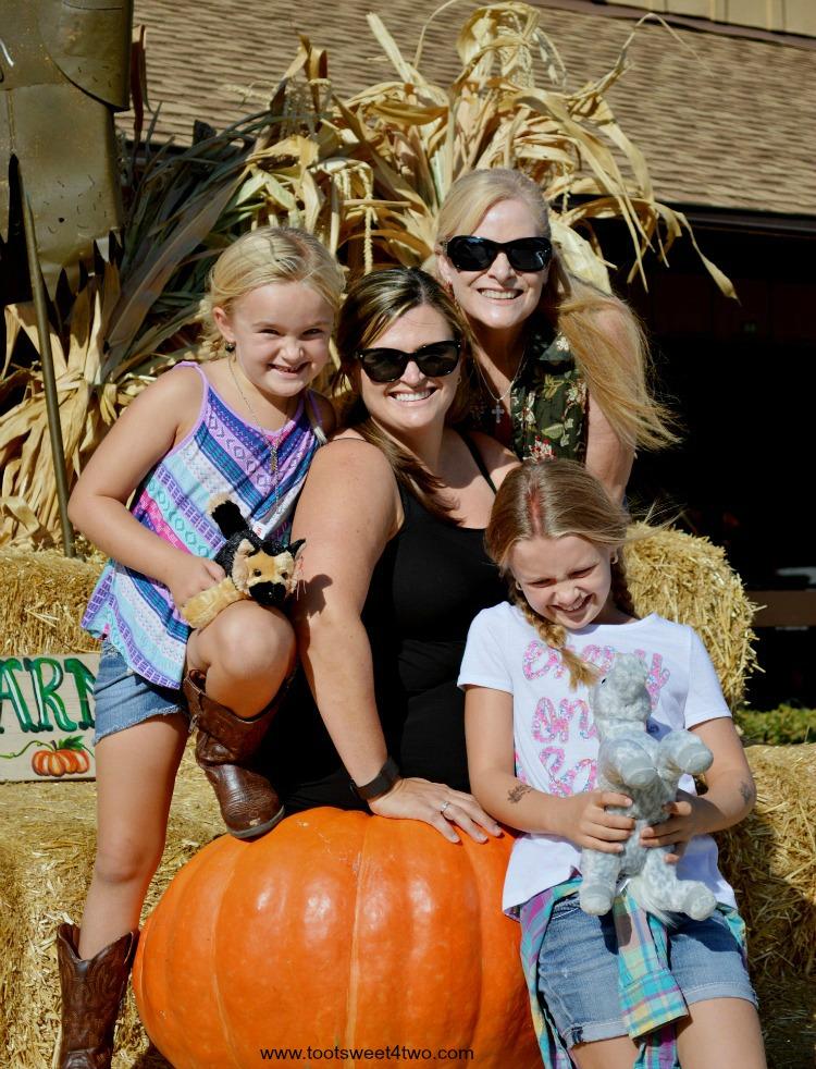 Family portrait at the pumpkin patch 2015