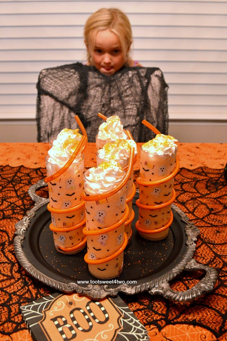Princess Sweetie Pie and Spine Chillin' Halloween Ice Cream Floats