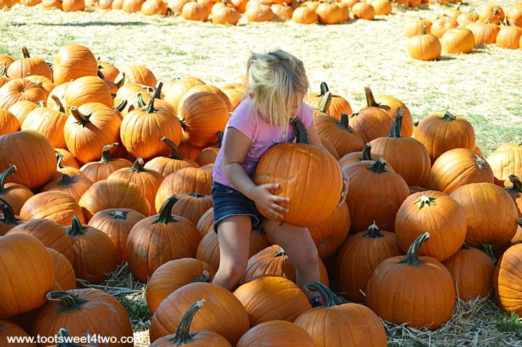 Princess Sweetie Pie balancing a pumpkin