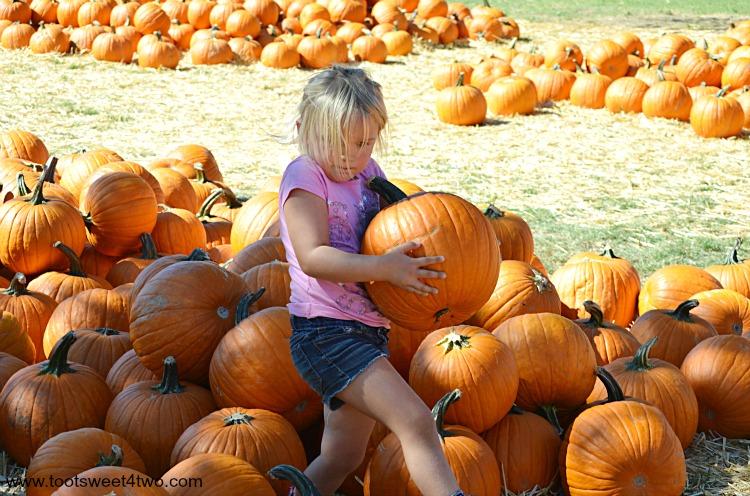 Princess Sweetie Pie carrying a pumpkin