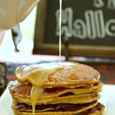 Pumpkin Pancakes with Maple Butter Glaze