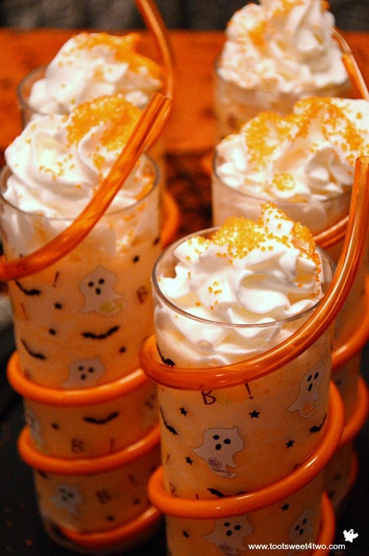 Spine Chillin' Halloween Ice Cream Floats close-up