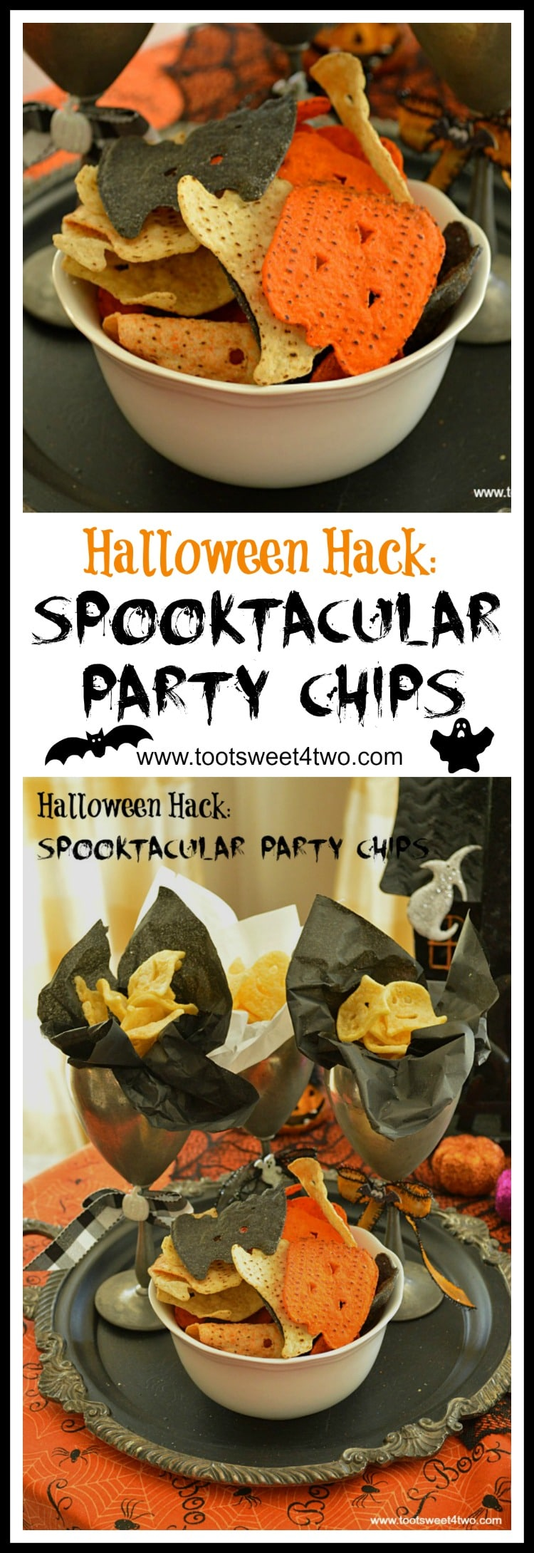 Spooktacular Party Chips Pinterest
