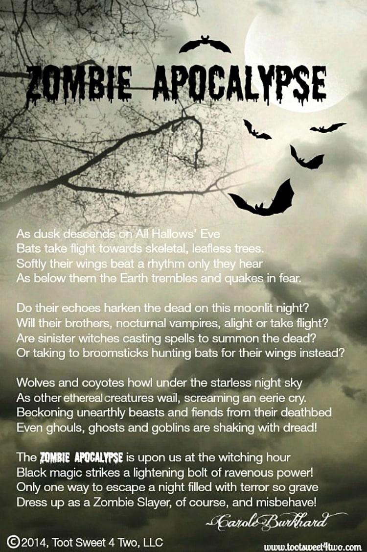 Zombie Apocalypse poem 750x1127