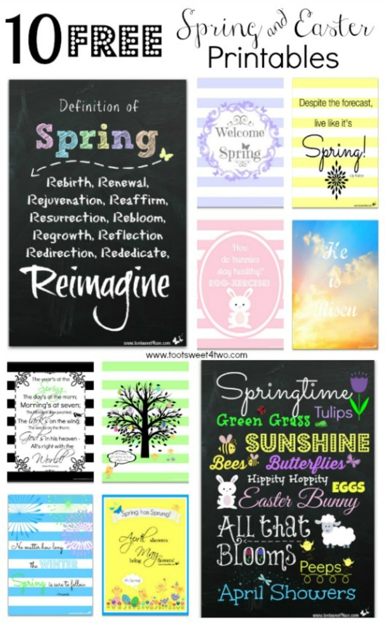 10 FREE Spring and Easter Printables 750x1214