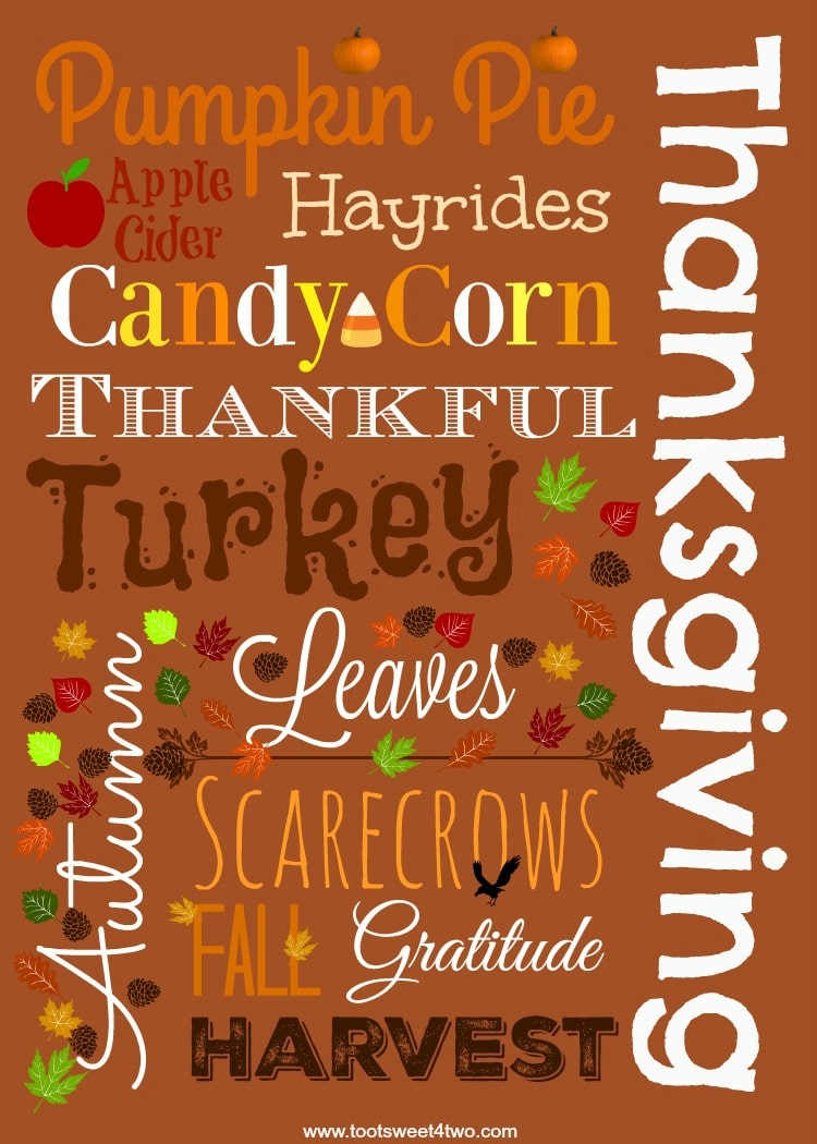 Autumn Thanksgiving Printable