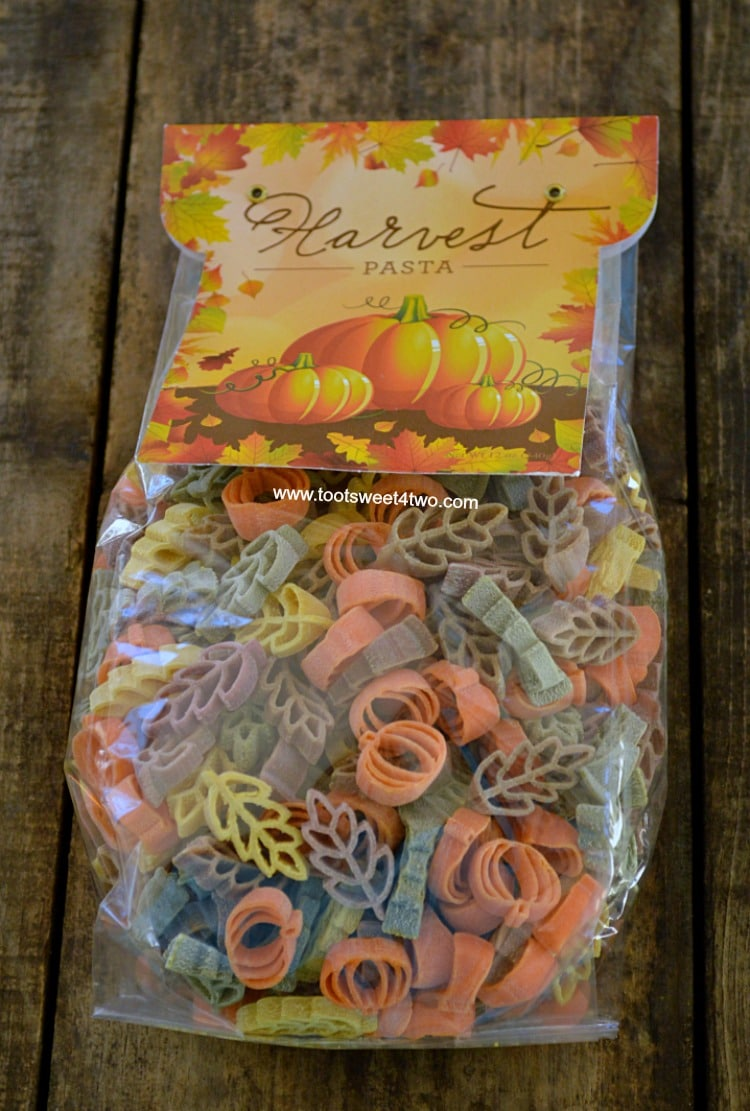 Harvest Pasta in the bag