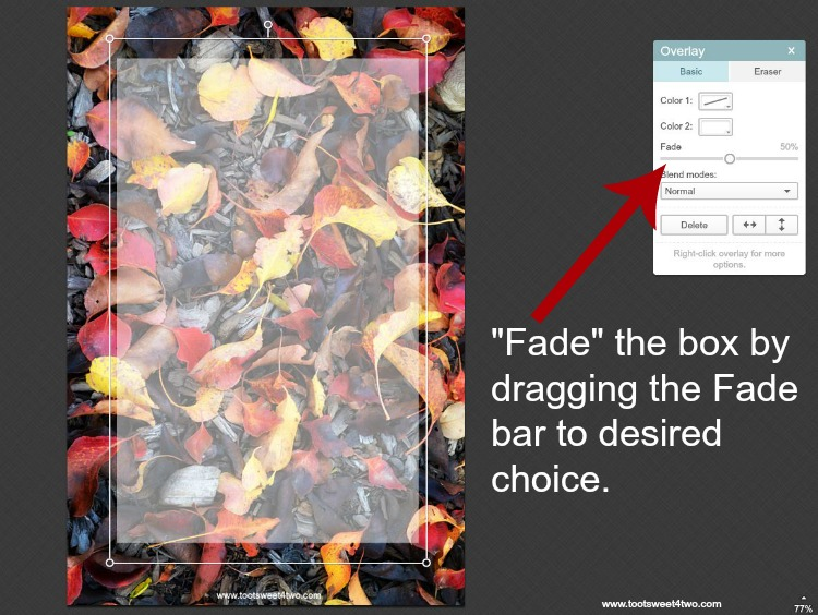 How to fade box in PicMonkey instructions - 4