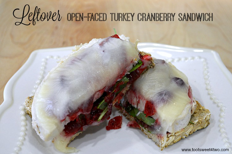 Leftover Open-faced Turkey Cranberry Sandwich - another delicious way to eat turkey leftovers