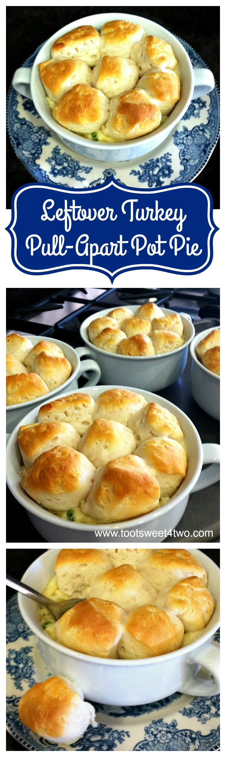 Leftover Turkey Pull-Apart Pot Pie - an easy and delicious leftover recipe