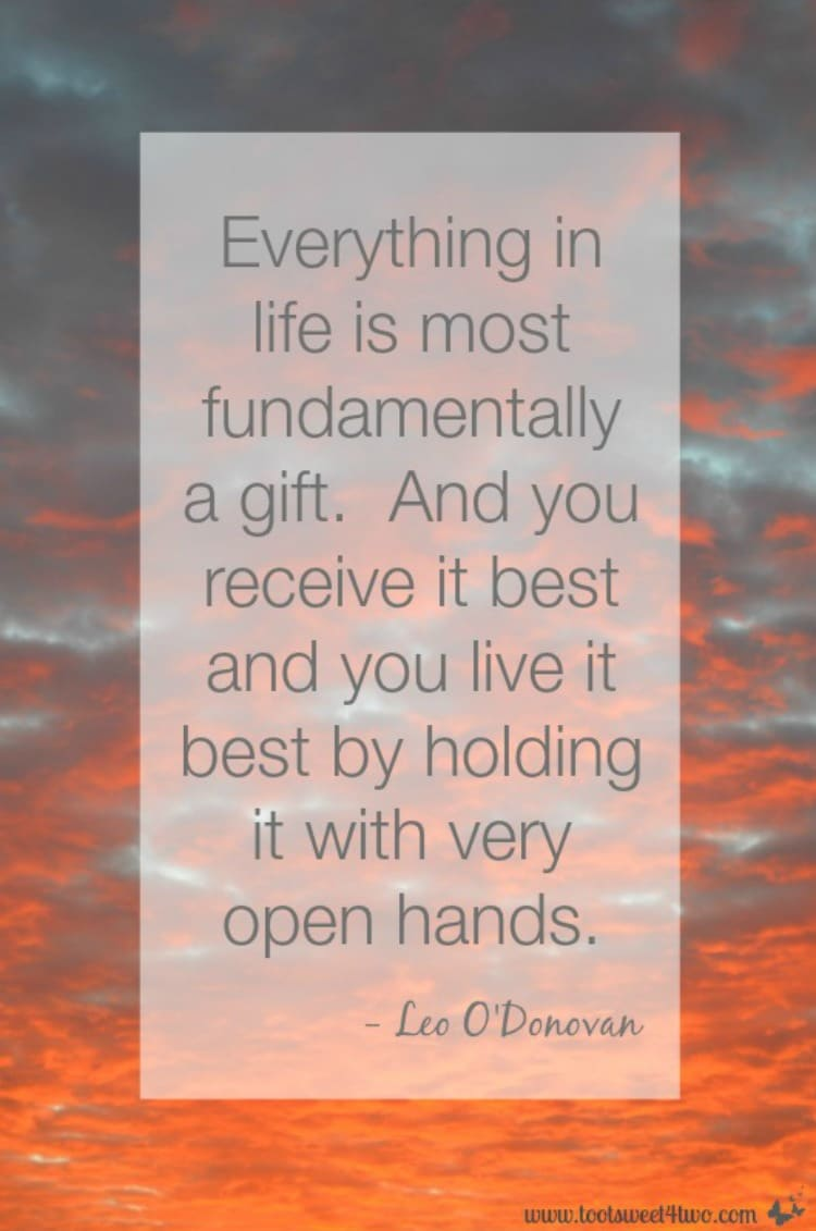 Open Hands quote by Leo O'Donovan 750x1131