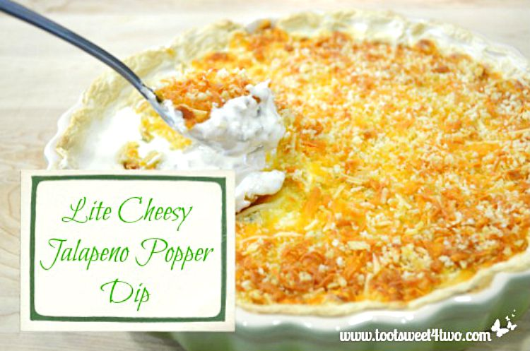Thanksgiving Appetizer - Lite Cheesy Jalapeno Popper Dip