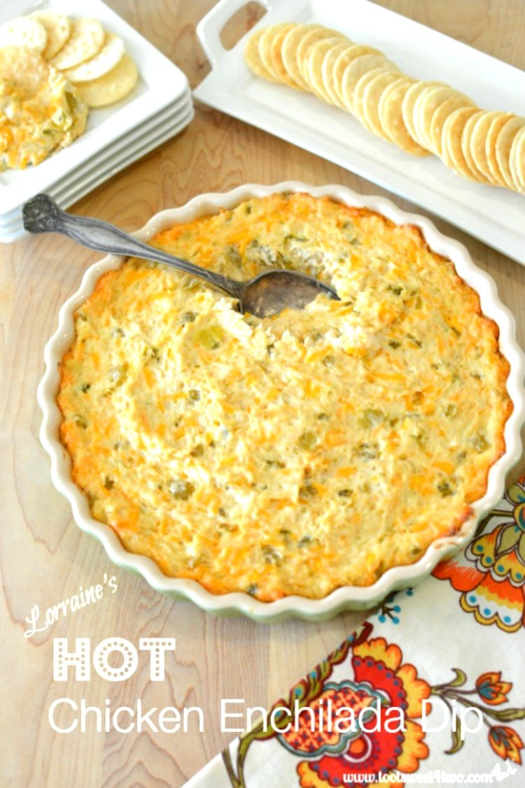 Thanksgiving Appetizer - Lorraine's Hot Chicken Enchilada Dip