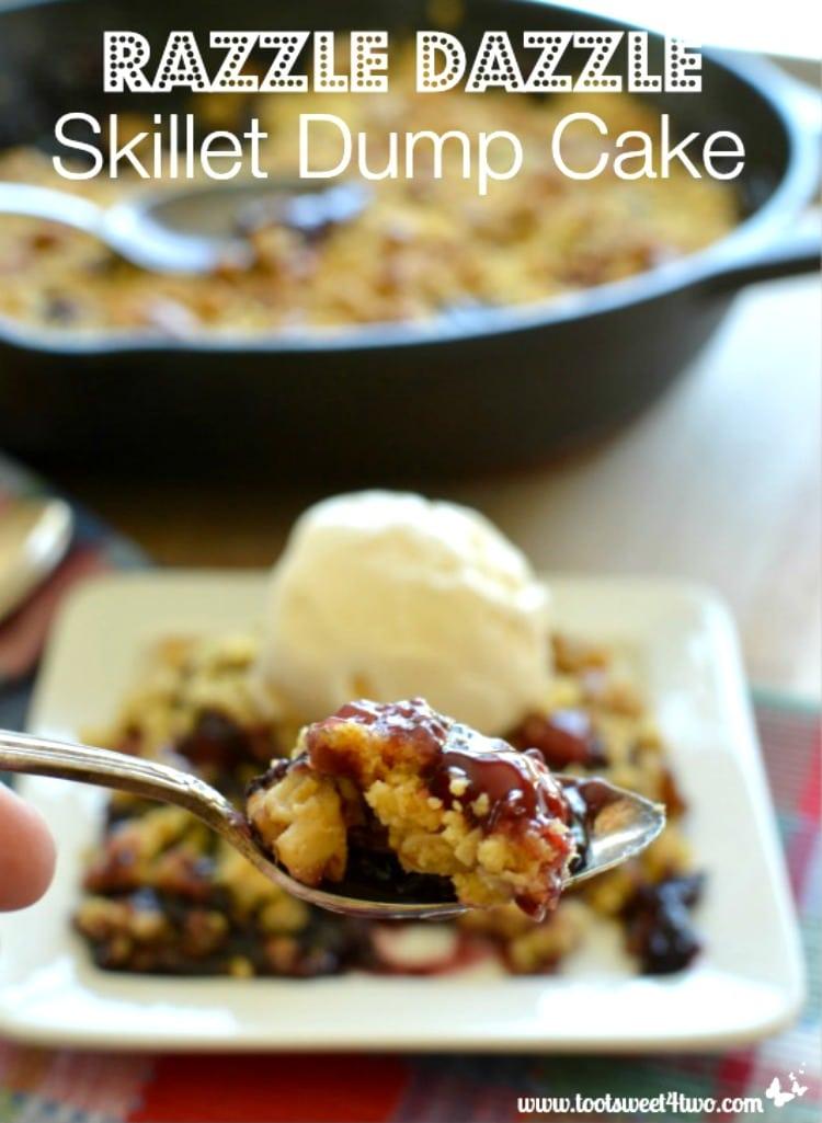 Thanksgiving Dessert - Razzle Dazzle Skillet Dump Cake