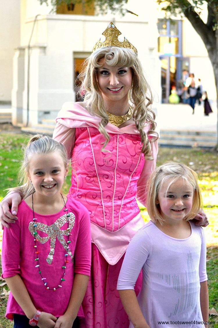 Princess Aurora with Princess P and Princess Sweetie Pie