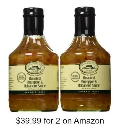 2 bottles of Roasted Pineapple & Habanero Sauce