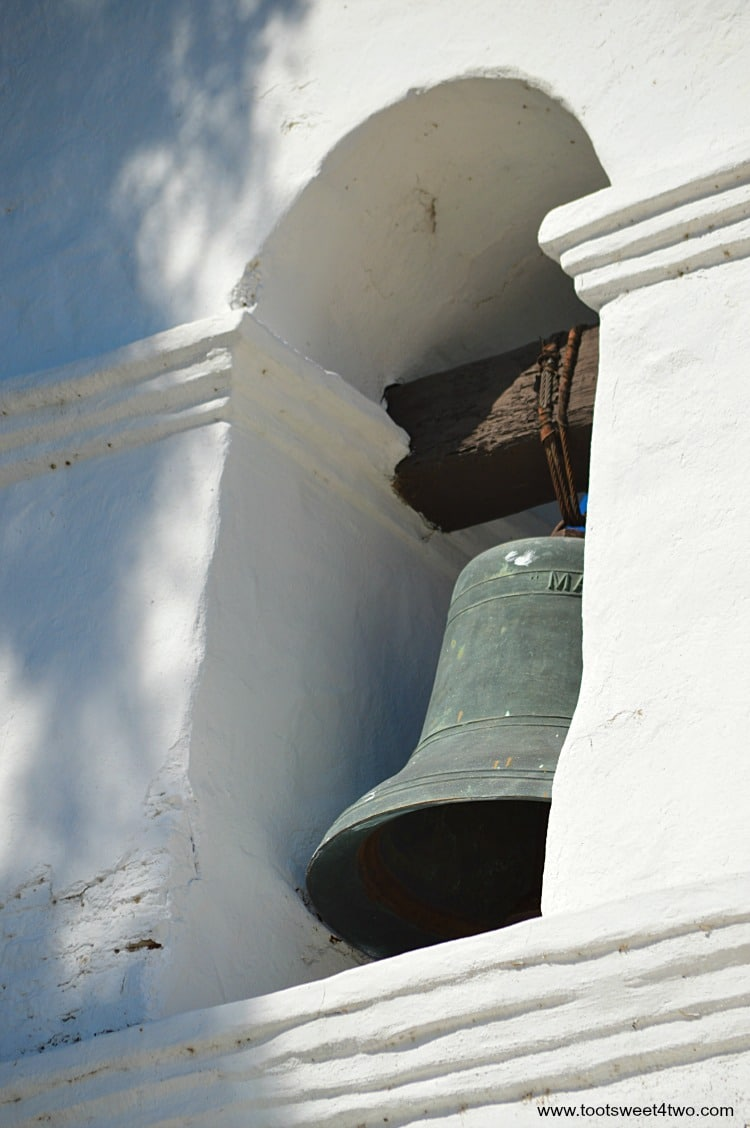 Bell in bell tower at Mission San Diego de Alcala