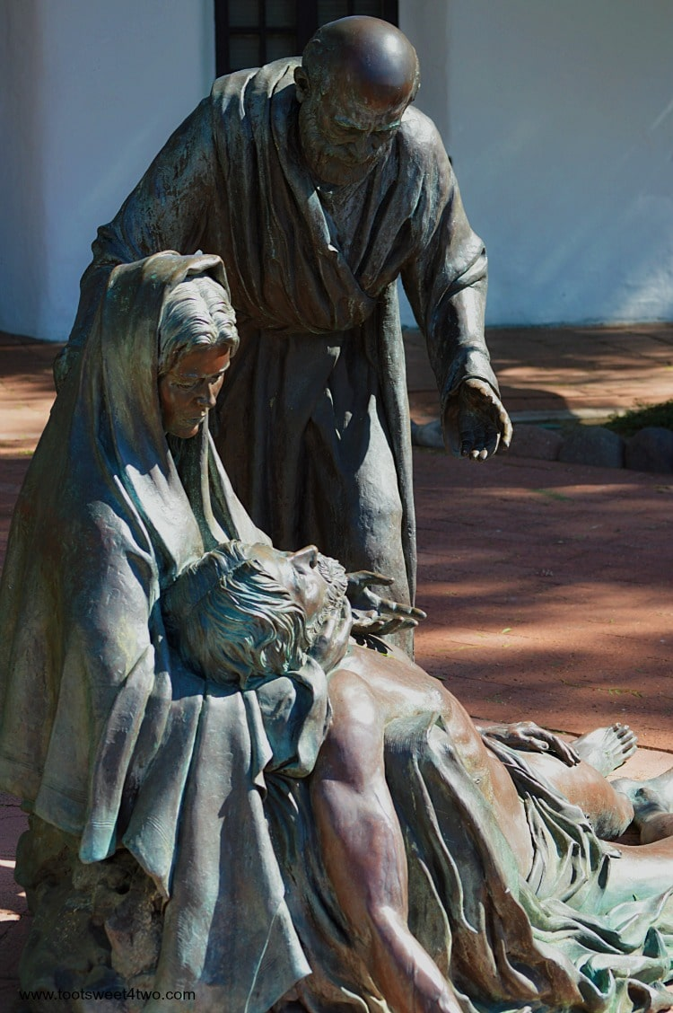 Close-up The Pieta at Mission San Diego de Alcala