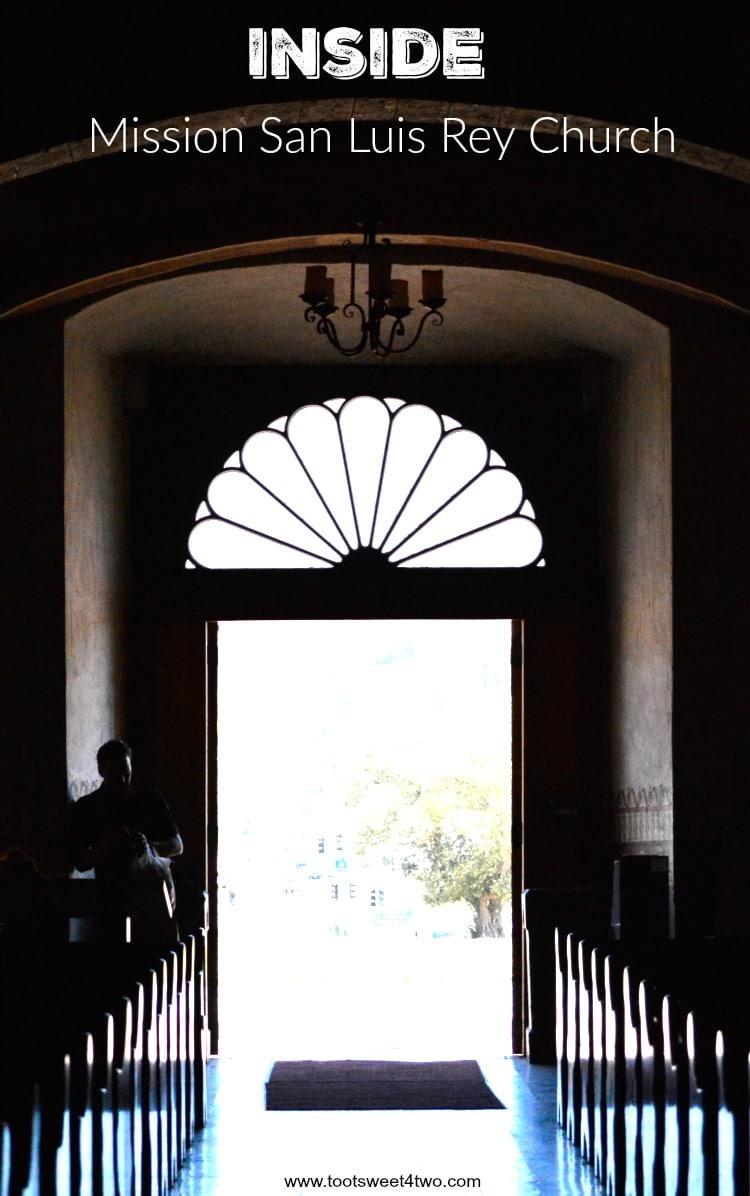 Doorway from inside Mission San Luis Rey Church
