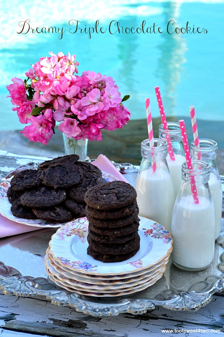 Dreamy Triple Chocolate Cookies - a chocolate-lover's dream!