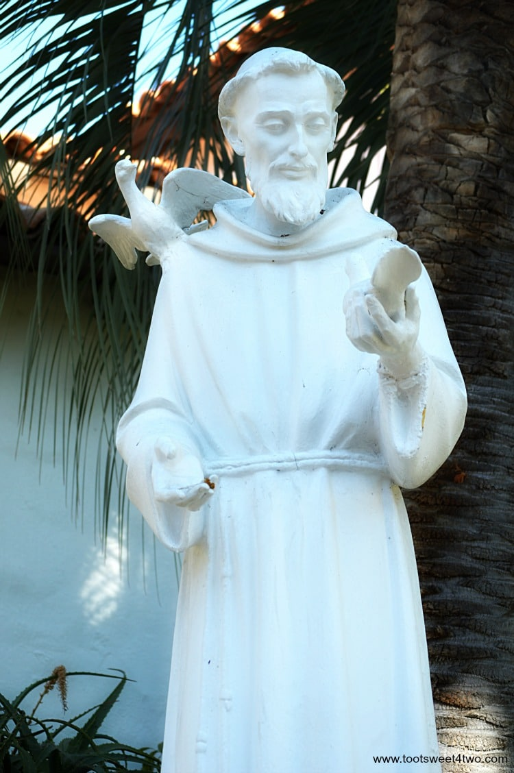 Father Serra at Mission San Diego de Alcala