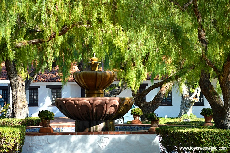 Fountain in courtyard at Mission San Diego de Alcala