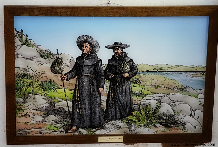 Franciscans picture at Mission San Diego de Alcala