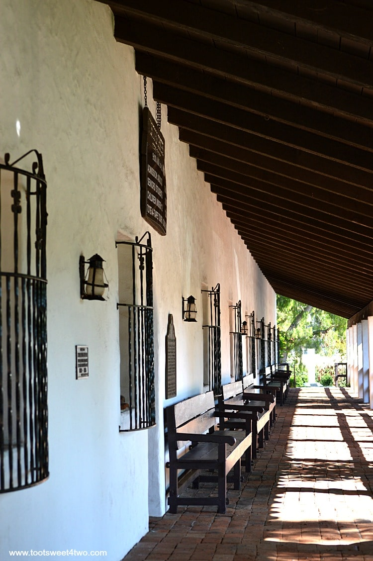 Front walkway at Mission Basilica San Diego de Alcala