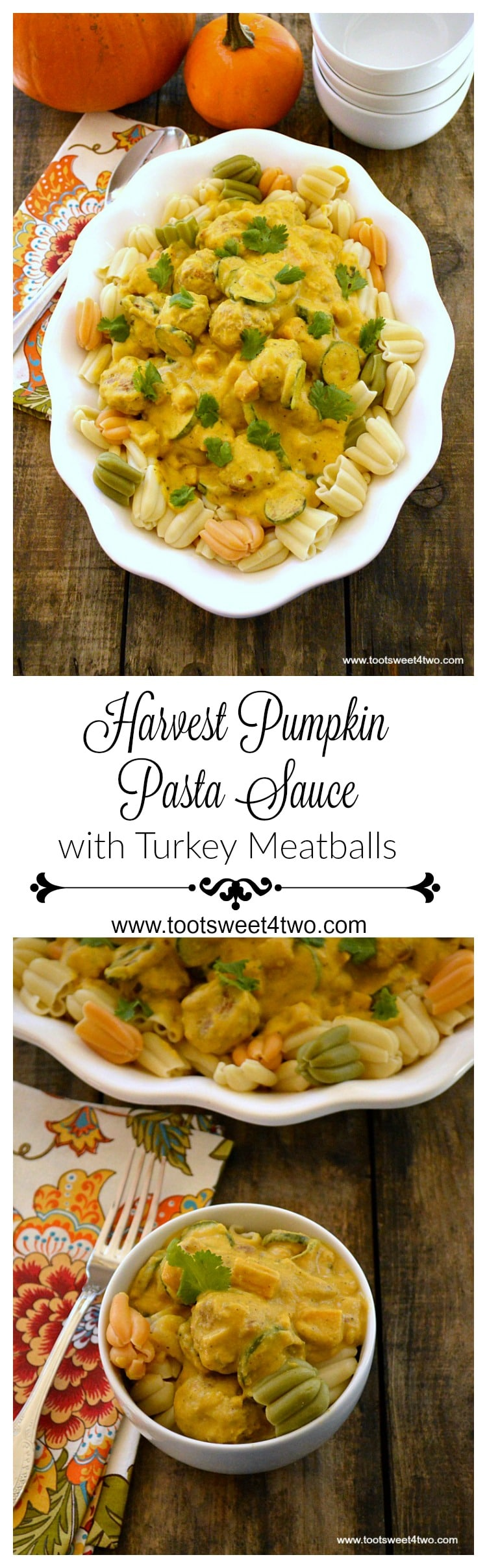 Harvest Pumpkin Pasta Sauce with Turkey Meatballs