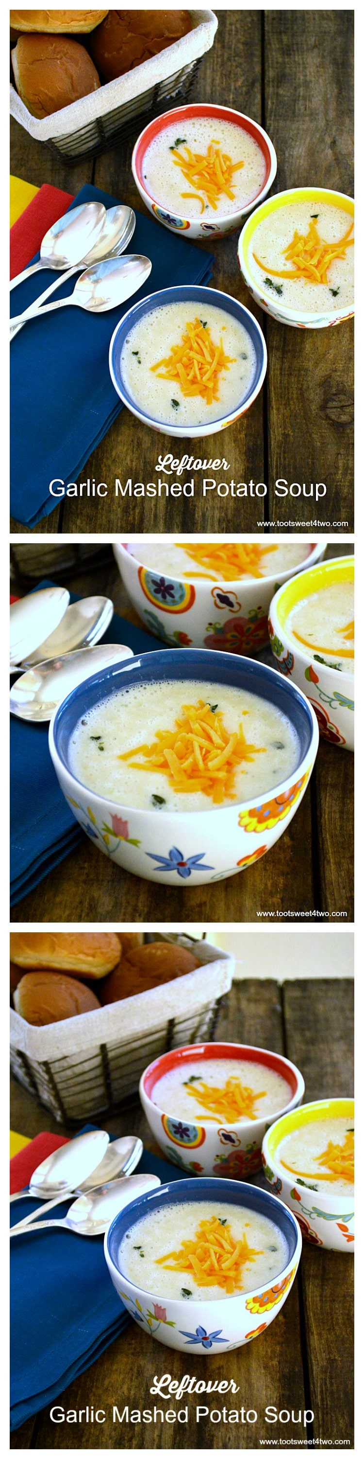 Leftover Garlic Mashed Potato Soup - a comfort classic reinvented from leftovers
