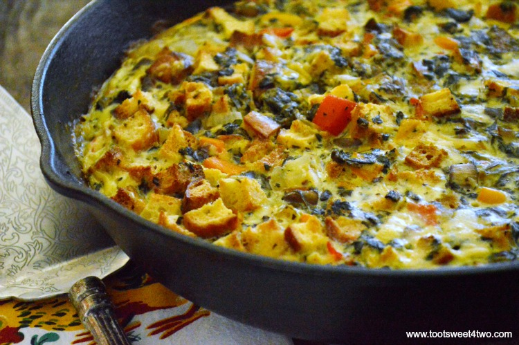 Leftover Spinach Frittata - a delicious way to use leftover Spinach Casserole