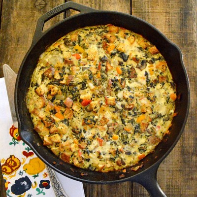 Leftover Spinach Frittata