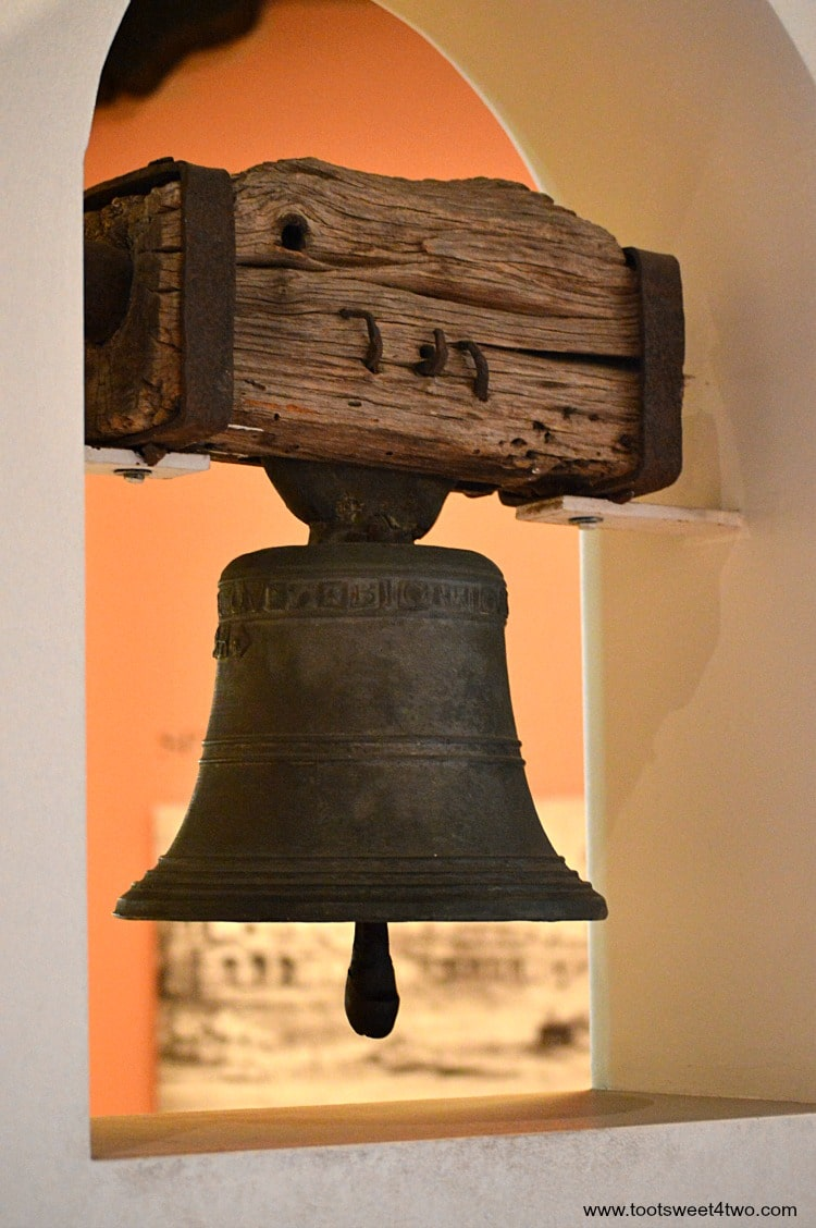 Mission Bell in Museum at Mission San Diego de Alcala