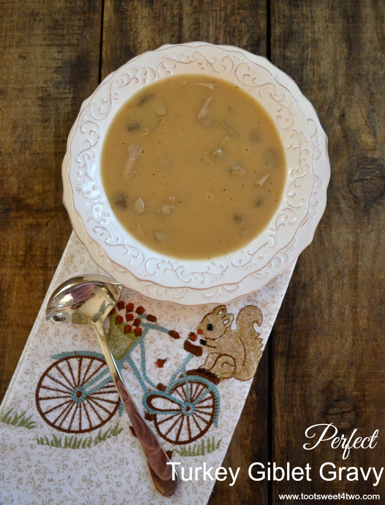 Perfect Turkey Giblet Gravy - delicious with Roasted Turkey