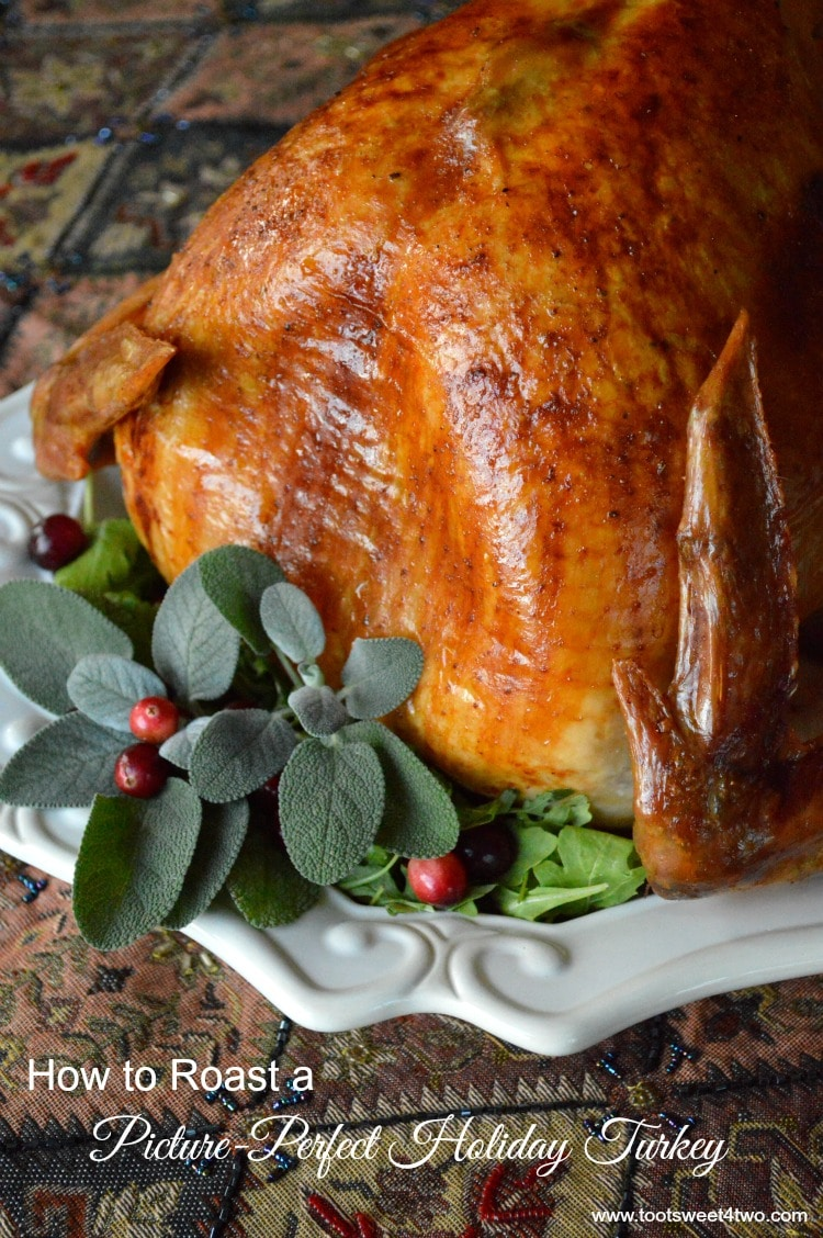 Picture-Perfect Holiday Turkey decked out with sage and cranberries