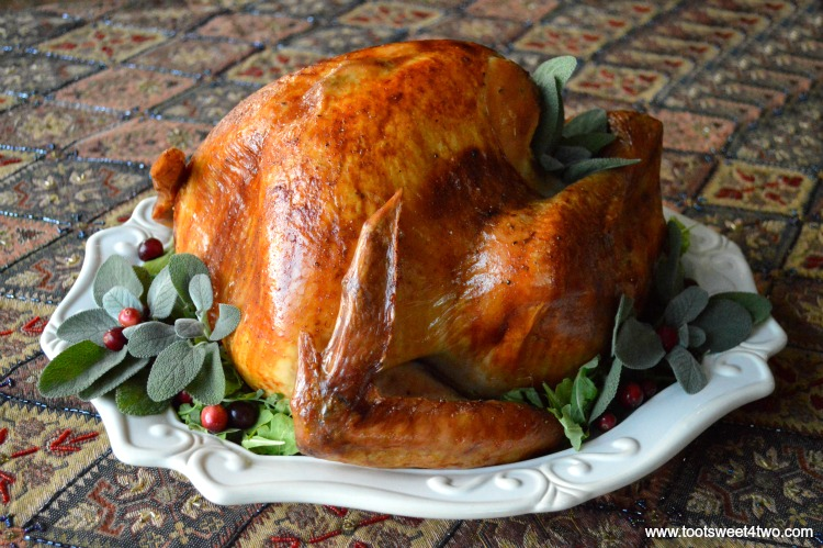 Picture-Perfect Holiday Turkey on a large platter