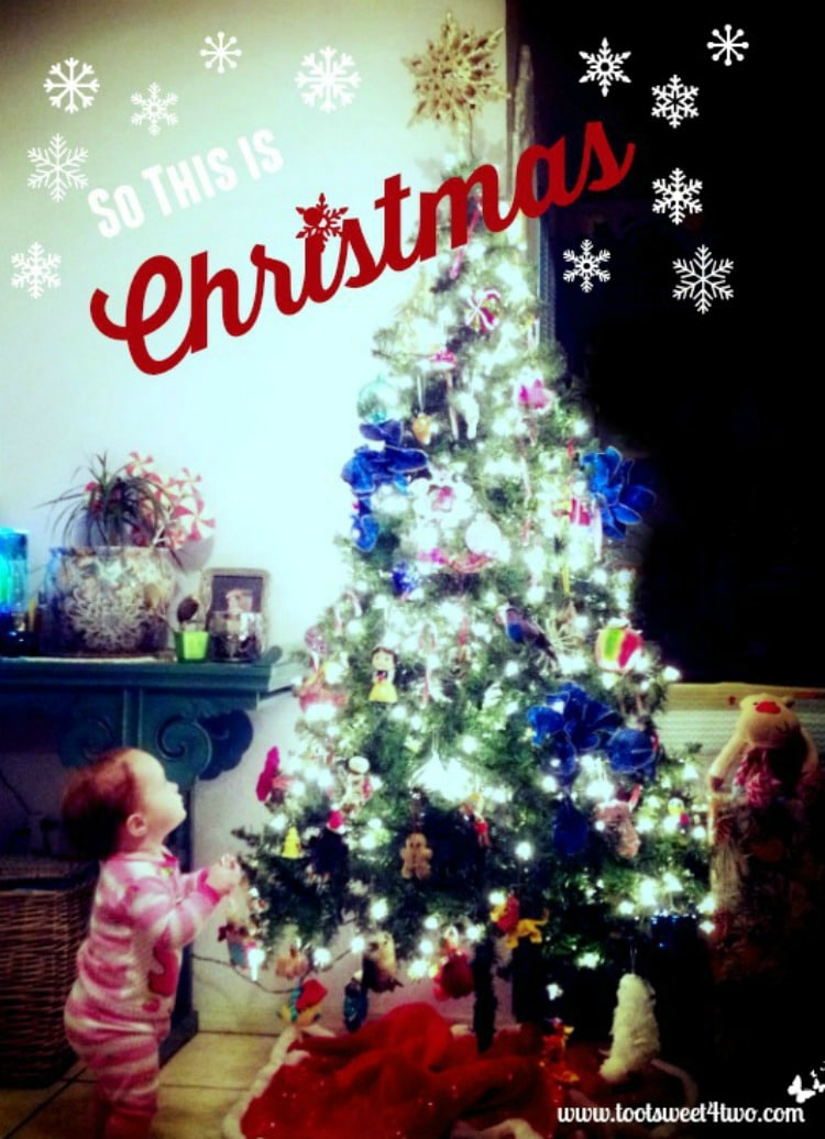 So This is Christmas - toddler gazing at Christmas tree