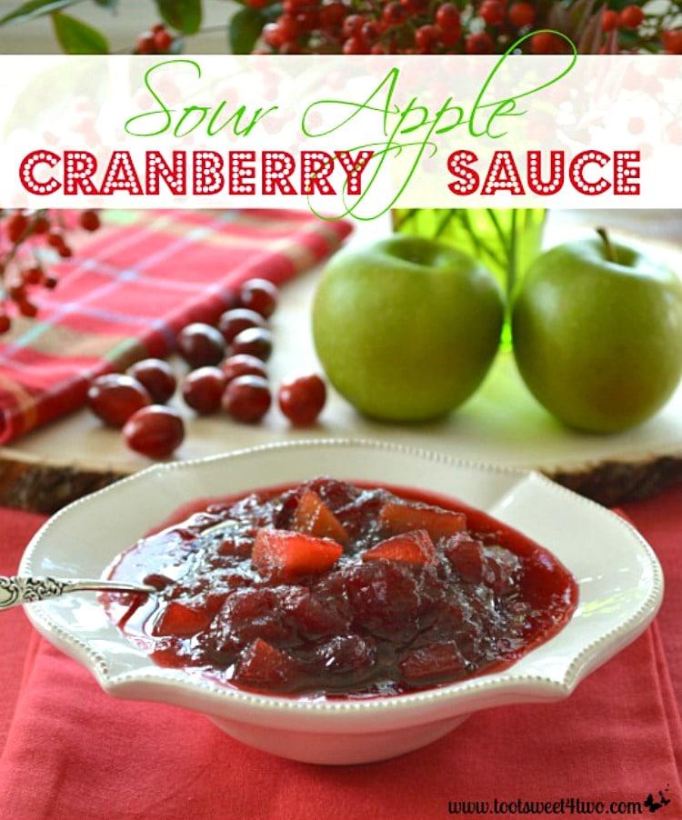 Sour Apple Cranberry Sauce - easy cranberry sauce recipe!