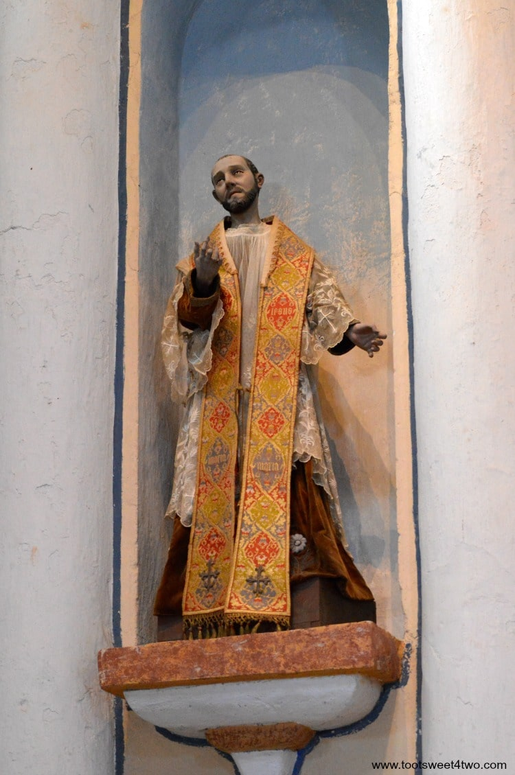 Statue of Priest inside Mission San Luis Rey Church