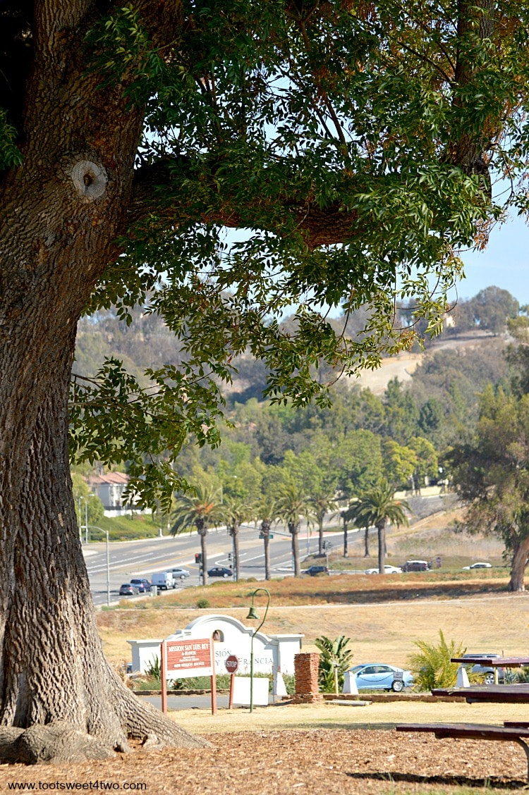 View of road to Mission San Luis Rey