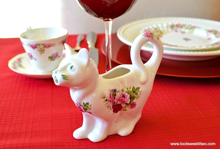 Cat Creamer - A Valentine's Day Tea Party Tablescape