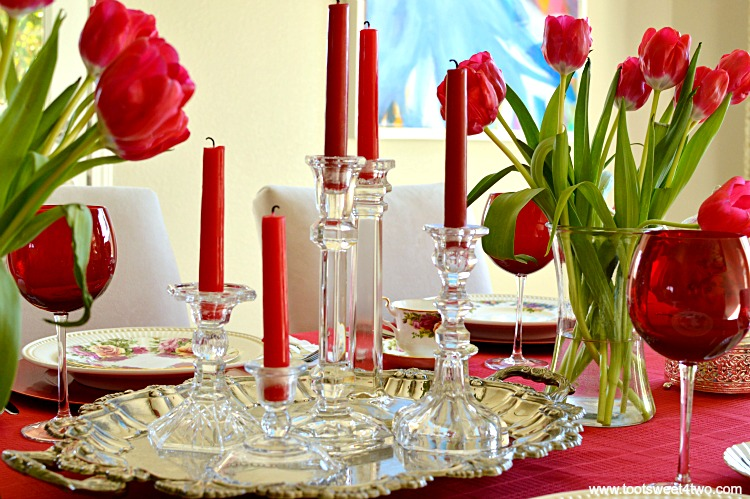 Centerpiece 2 - A Valentine's Day Tea Party Tablescape