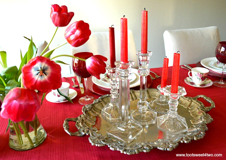 Centerpiece - A Valentine's Day Tea Party Tablescape