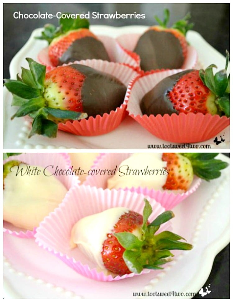 Chocolate-Covered Strawberries collage