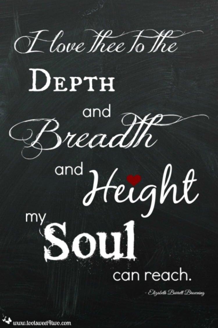 Depth Breadth Height by Elizabeth Barrett Browning