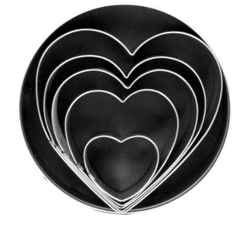 Heart-shaped cookie cutters from Amazon