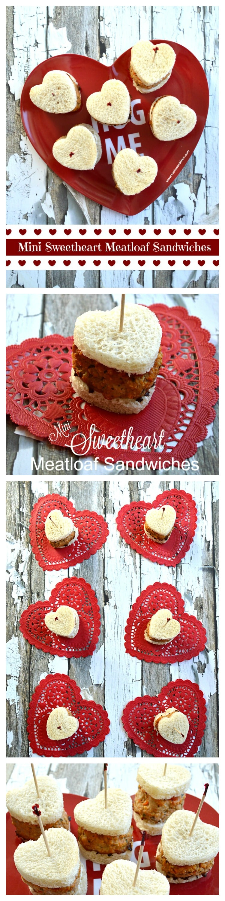 Mini Sweetheart Meatloaf Sandwiches collage
