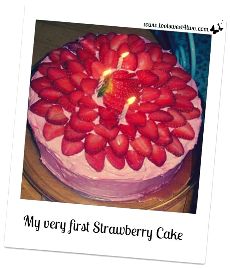 My very first Strawberry Cake poloroid